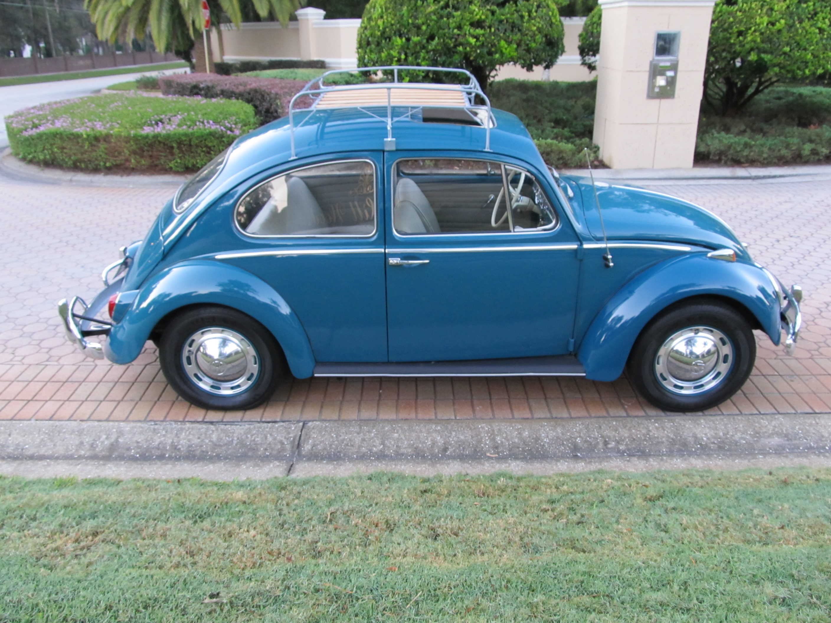 1965 Volkswagen Beetle — A nicely, restored sunroof Bug finished