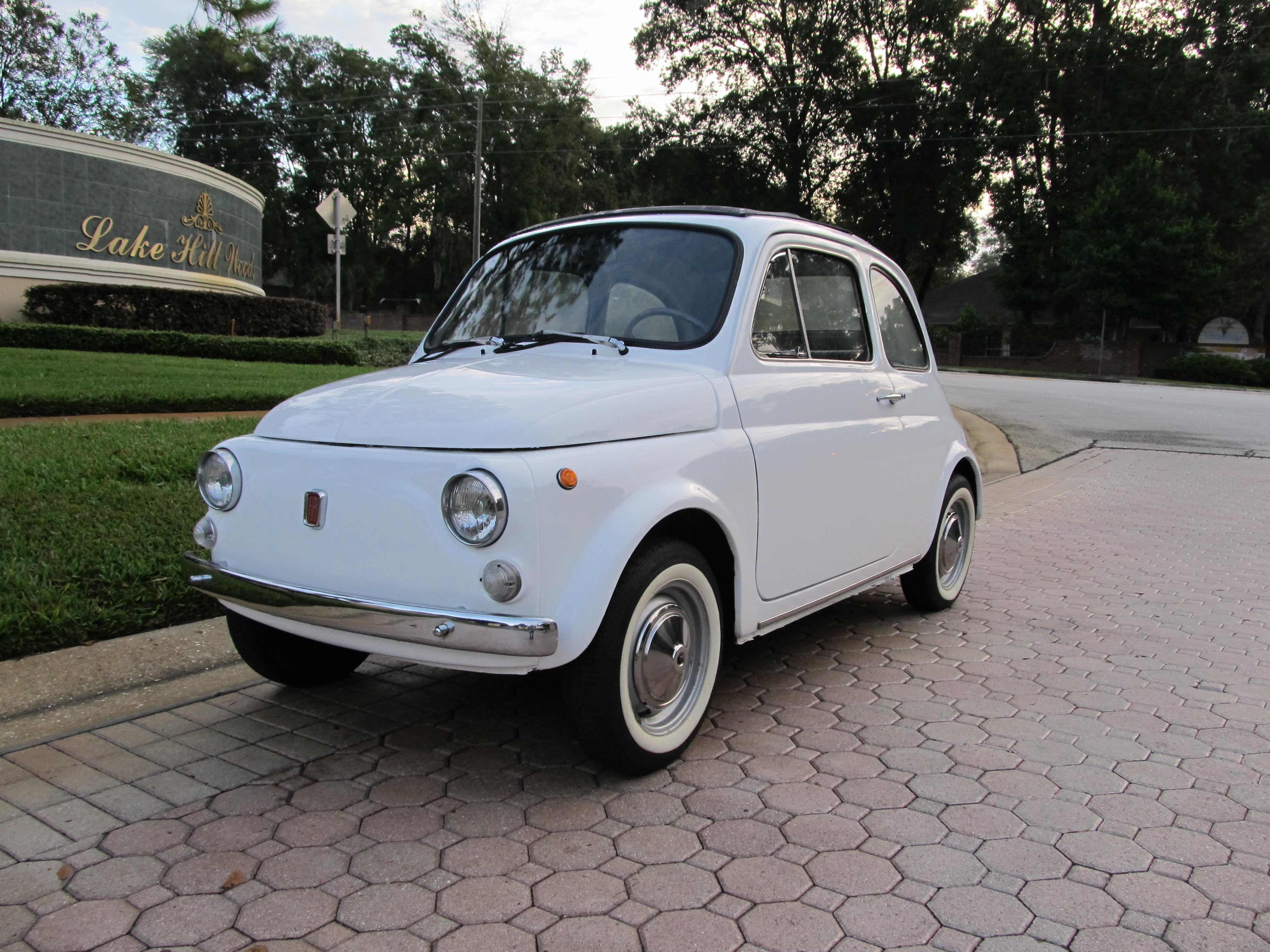 1970 fiat 500 l sold vantage sports cars vantage sports cars. Black Bedroom Furniture Sets. Home Design Ideas