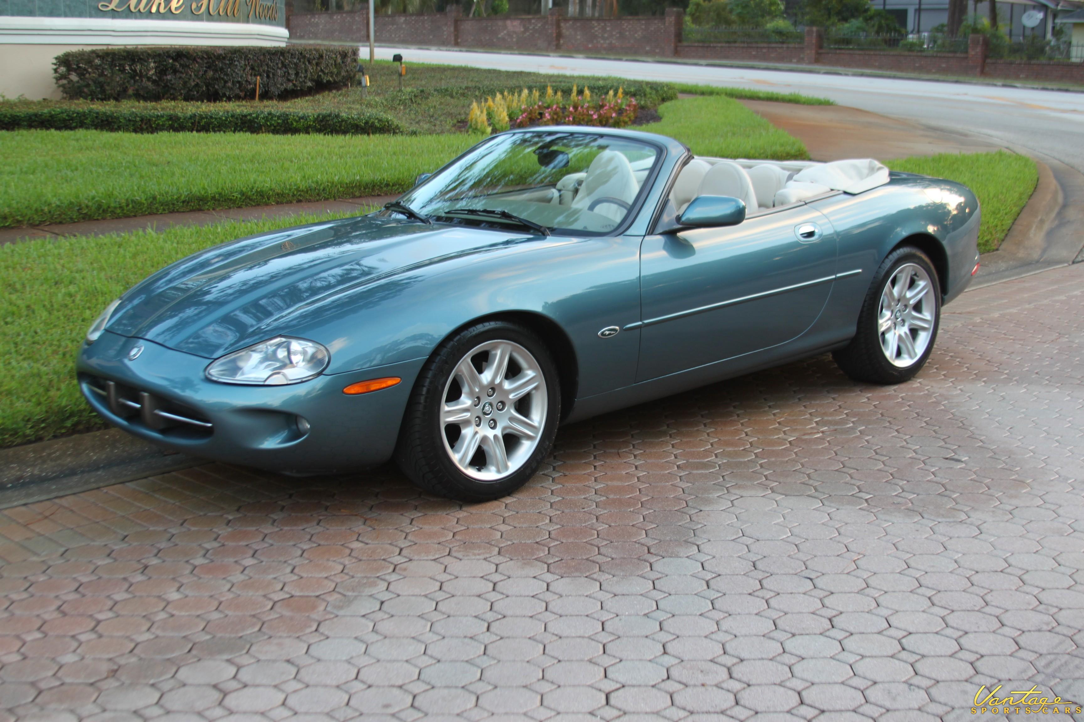 2000 jaguar xk8 convertible rare color low mileage sold vantage sports cars vantage. Black Bedroom Furniture Sets. Home Design Ideas
