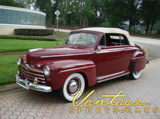 1946 ford super deluxe convertible sold vantage. Black Bedroom Furniture Sets. Home Design Ideas