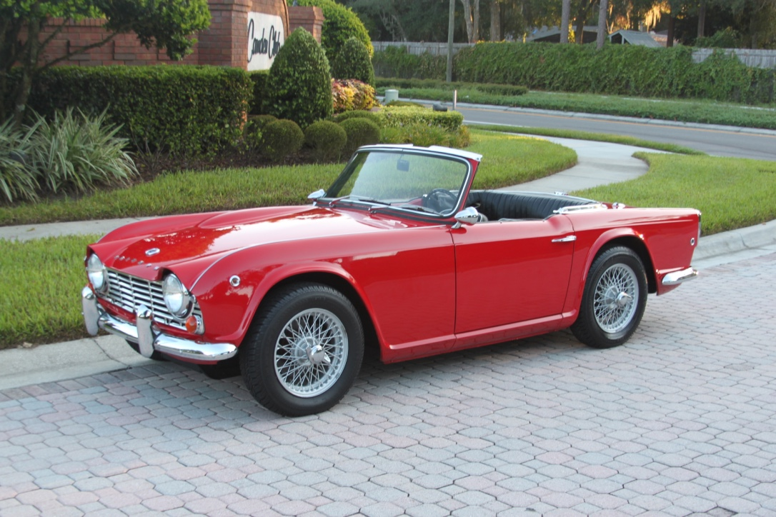 1964 triumph tr4 convertible sold vantage sports cars. Black Bedroom Furniture Sets. Home Design Ideas
