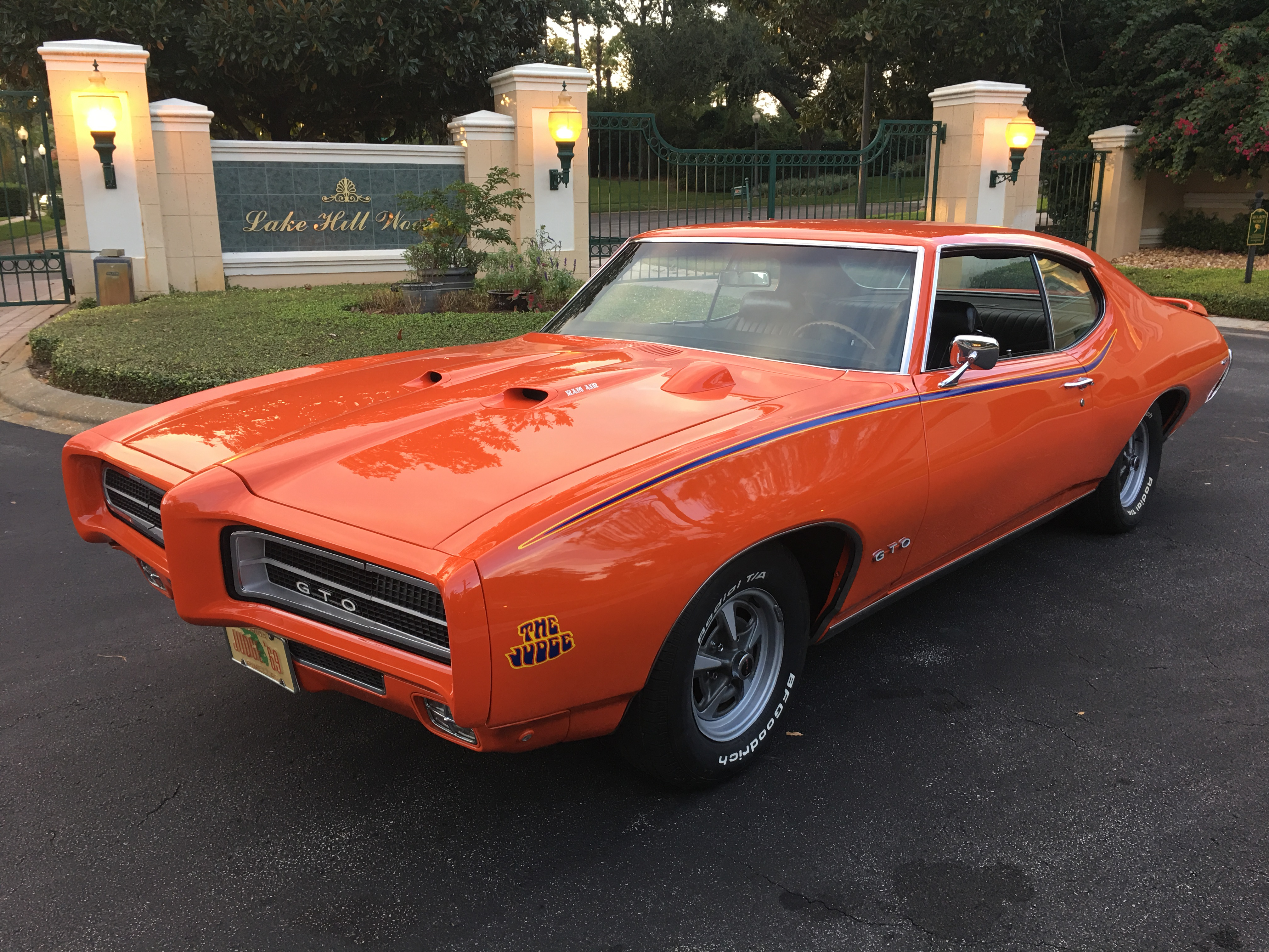 1969 Pontiac GTO Judge 4 Spd A/C PW - SOLD - Vantage Sports Cars ...