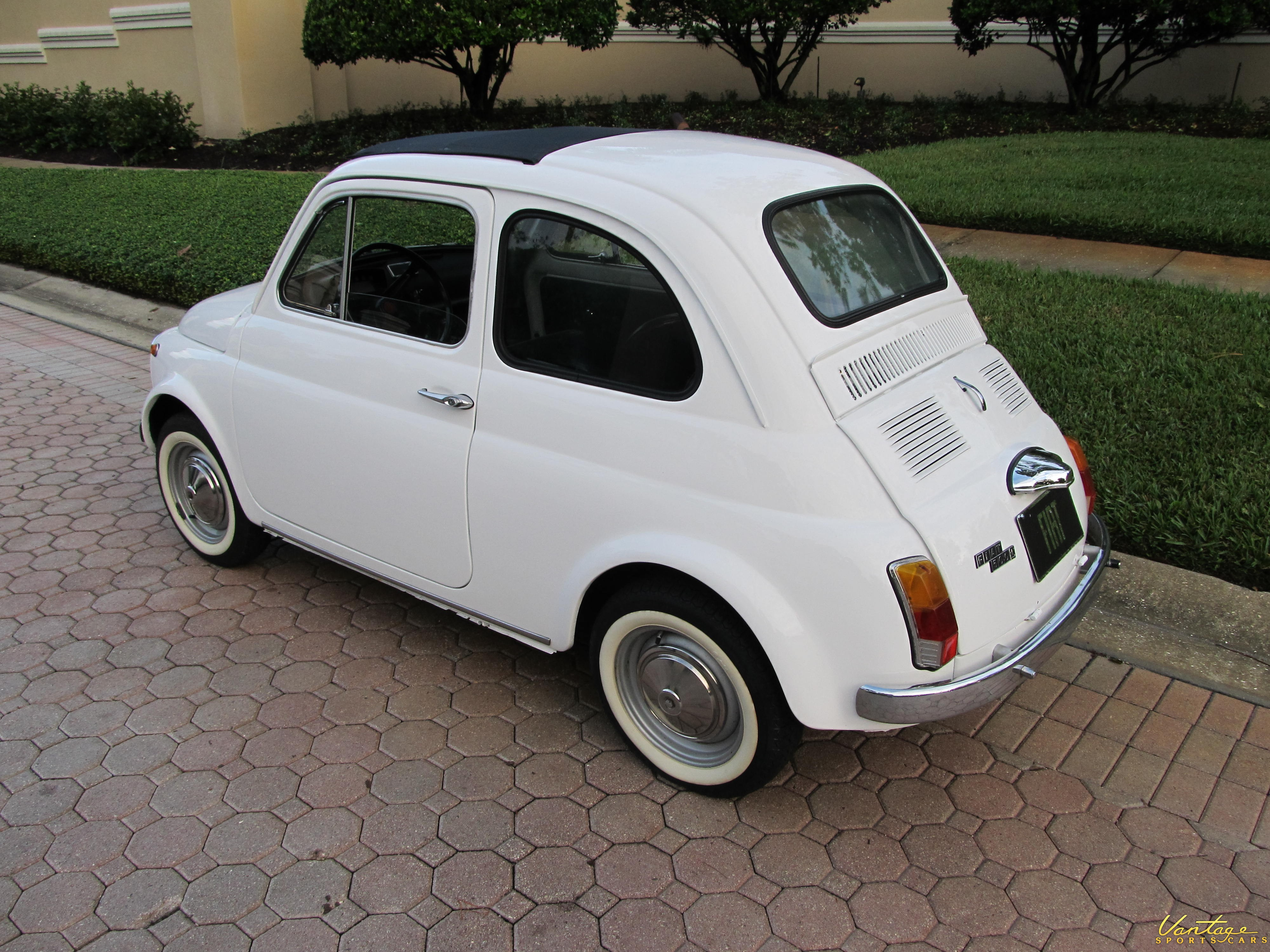 1970 Fiat 500 L Sold Vantage Sports Cars For Sale Lrestored Italian Classic With Only 36000 Kms Finished In Its Original Colors New Black Folding Sunroof